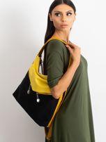Czarno-żółta torba miejska                                  zdj.                                  3