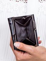 Czarny lakierowany portfel w motyle                                  zdj.                                  5