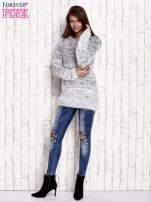 Czarny melanżowy sweter long hair                                  zdj.                                  2