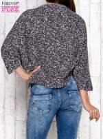 Czarny melanżowy sweter z rękawem typu nietoperz                                                                          zdj.                                                                         4