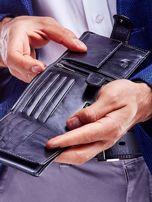 Czarny portfel dla mężczyzny z klapką                                  zdj.                                  4