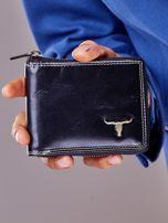 Czarny portfel męski na suwak                                  zdj.                                  9