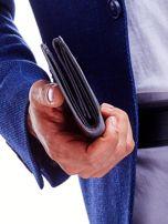 Czarny portfel męski przecierany                                  zdj.                                  8