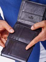 Czarny portfel męski z przeszyciem                                  zdj.                                  7