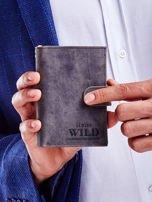Czarny portfel skórzany dla mężczyzny                                   zdj.                                  2