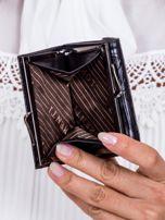 Czarny portfel w tłoczone motyle                                   zdj.                                  5