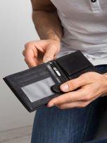 Czarny poziomy portfel męski skórzany                                  zdj.                                  5