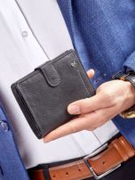 Czarny rozkładany portfel ze skóry                                  zdj.                                  14