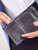 Czarny rozkładany portfel ze skóry                                  zdj.                                  7