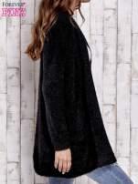 Czarny sweter oversize z kieszeniami                                                                          zdj.                                                                         3