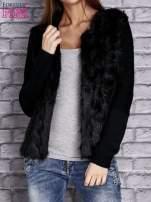 Czarny sweter z futerkiem                                  zdj.                                  5