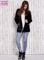 Czarny sweter ze złotymi suwakami                                  zdj.                                  2