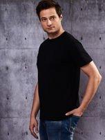 Czarny t-shirt męski                                   zdj.                                  4