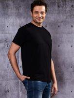 Czarny t-shirt męski                                   zdj.                                  6