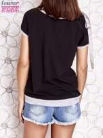Czarny t-shirt z kokardą                                  zdj.                                  4