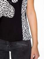 Czarny t-shirt z motywem pantery                                                                          zdj.                                                                         7