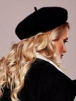 Czarny wełniany beret                                  zdj.                                  4