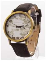 Czarny zegarek damski na skórzanym pasku                                  zdj.                                  2