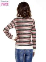 Czerwona bluza w azteckie wzory                                  zdj.                                  2