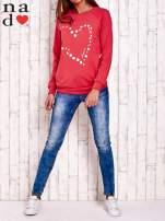 Czerwona bluza z wzorem serca                                  zdj.                                  2