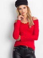Czerwona bluzka z koronką                                  zdj.                                  1