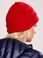Czerwona czapka beanie z komiksowymi oczami                                  zdj.                                  3