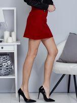 Czerwona dzianinowa spódnica mini                                  zdj.                                  5