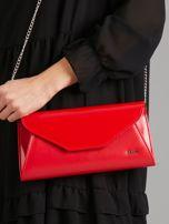 Czerwona kopertówka z eko skóry                                  zdj.                                  1