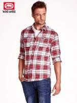 Czerwona koszula męska motyw kratki