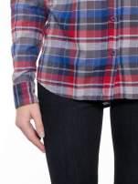 Czerwona koszula w kratę z gwiazdkami przy kieszonkach                                  zdj.                                  7