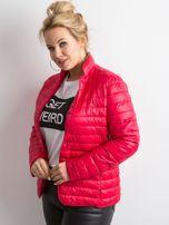 Czerwona kurtka z pikowaniem PLUS SIZE                                  zdj.                                  5