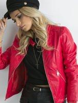 Czerwona kurtka z pikowanymi modułami                                  zdj.                                  5