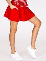 Czerwona spódnica z falbaną                                  zdj.                                  3