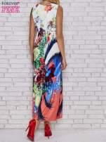 Czerwona sukienka maxi z trójkątnym dekoltem                                  zdj.                                  4