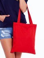 Czerwona torba materiałowa z napisem SUP                                  zdj.                                  4