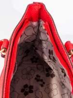 Czerwona torba na ramię ze złotymi okuciami                                  zdj.                                  10