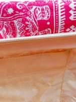 Czerwona torba plażowa w indyjskie wzory                                  zdj.                                  9