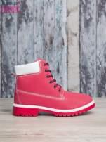 Czerwone buty trekkingowe damskie traperki                                                                           zdj.                                                                         1