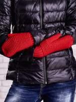 Czerwone grube rękawiczki na jeden palec                                  zdj.                                  3
