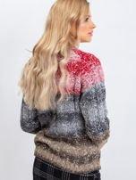 Czerwono-szary sweter Nevermind                                  zdj.                                  2
