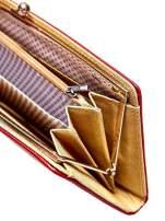 Czerwony portfel z motywem skóry węża z biglem                                  zdj.                                  5