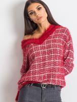 Czerwony sweter Happiness                                  zdj.                                  1
