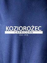 Damska bluza ze znakiem zodiaku KOZIOROŻEC granatowa                                  zdj.                                  2