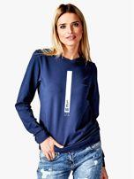 Damska bluza ze znakiem zodiaku LEW granatowa                                  zdj.                                  1