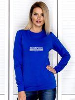 Damska bluza ze znakiem zodiaku SKORPION kobaltowa                                  zdj.                                  1