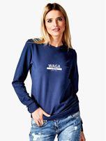 Damska bluza ze znakiem zodiaku WAGA granatowa                                  zdj.                                  1