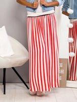 Długa spódnica maxi w biało-czerwone paski                                                                          zdj.                                                                         6