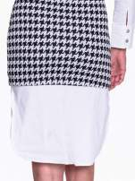 Dwuczęściowa sukienka w pepitkę z białą koszulą                                  zdj.                                  8