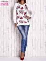 Ecru bluza w kwiaty                                  zdj.                                  2