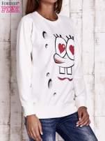 Ecru bluza z motywami komiksowymi